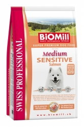 BiOMill Prof. Medium Sensitive Salmon 12kg* LOSOS
