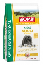 BiOMill Swiss Prof. Mini Adult Chicken 1kg