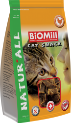 BiOMill CAT SNACK Veal 100 g * telecí - kopie