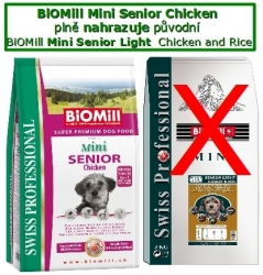 BiOMill Prof. Mini Senior Chicken 8kg  - SLEVA NA EXPIRACI