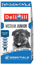 Delimill ESSENTIALS MEDIUM JUNIOR 15KG