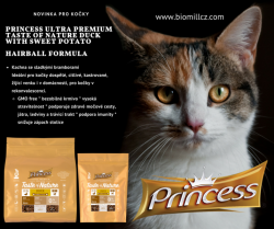 Princess Ultra Premium Taste of Nature Duck with Sweet Potato — Hairball Formula 2 kg