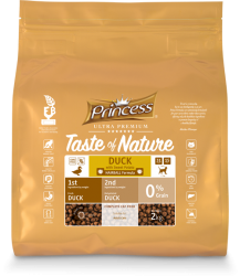 Princess Ultra Premium Taste of Nature Duck with Sweet Potato — Hairball Formula ´12 kg