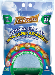 Princess Super Absorbent 200% Clumping litter 5 l - silikát