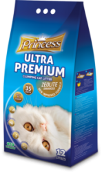 Princess Ultra Premium Cat Litter Zeolite Baby Powder 12ltr
