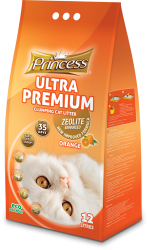 Princess Ultra Premium Cat Litter Zeolite ORANGE 12ltr