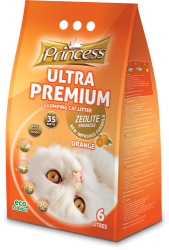Princess Ultra Premium Cat Litter Zeolite ORANGE 6 ltr