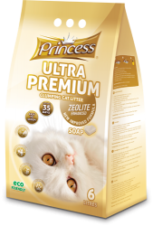 Princess Ultra Premium Cat Litter Zeolite SOAP 6 ltr